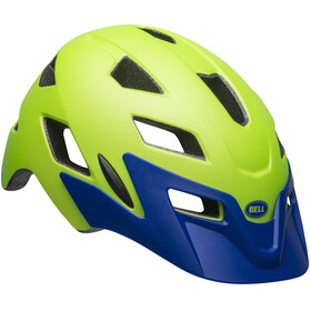 Bell Sidetrack Helmet Youth matte bright green/blue
